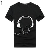Summer Fashion Short Sleeve Cartoon Print T-Shirt Slim