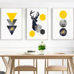 Triangles Deer Poster Canvas