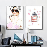 Abstract Pink Sexy Woman Vogue Art Wall