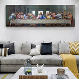 Last Supper Paintings Reproductions On The Wall Art Canvas  By Da Vinci Christian