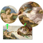 Sistine Chapel Ceiling Fresco of Michelangelo, Creation of Adam