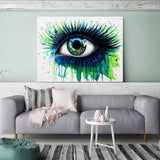 Green Eye Canvas Painting Art