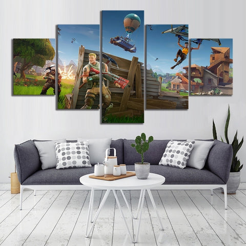 5 Piece Fortnight Battle Royale Game Poster