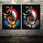 100% Hand-painted Om Ganesha Ganpati Oil Painting