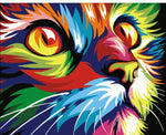 Modern Colorful Cat Decor painting by numbers in Canvas