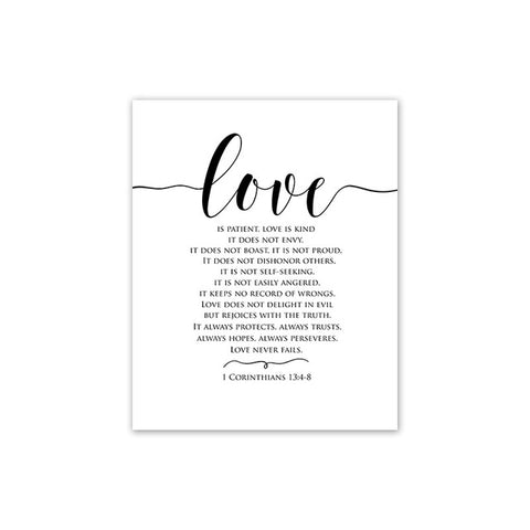 Style Love Black and White Canvas Painting