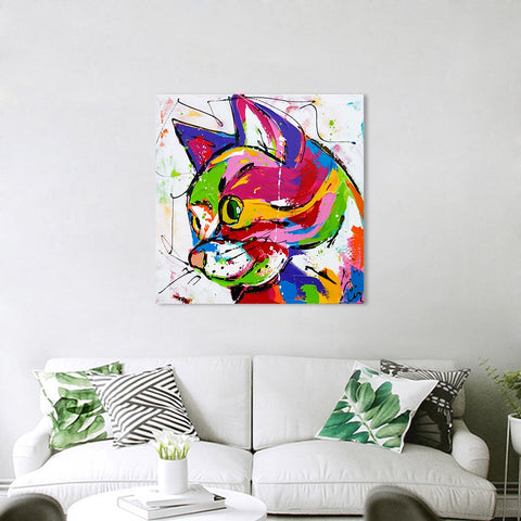 Colorful Cat Canvas Printing