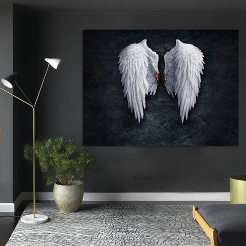 Modern White and Black Lucifer Poster