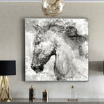 Abstract Horse Head Decorative Living Room No Frame