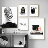 Glasses Fashion Girl Handbag Brand Wall Art