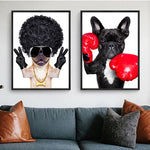 Animal Pictures Decor Children Room Creativity BAD GIRL Funny Dog