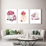 Modern Perfume Bottle Wall Art No Frame
