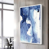 Blue watercolor abstract pattern modern
