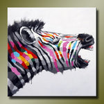 Oil Painting on Canvas Abstract Animal Wall Art