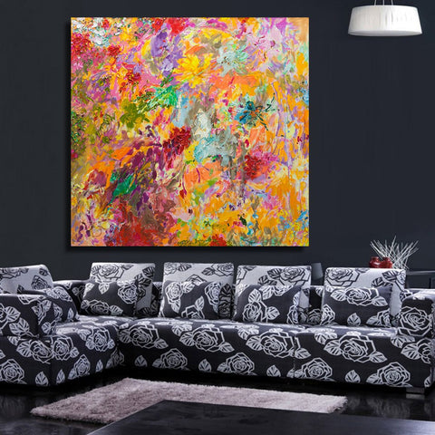 ' Humming birds in Flowers '  Painting