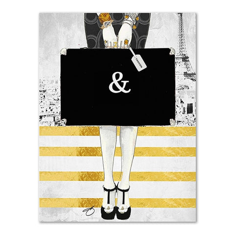 Modern Fashion Couture Wall Art Poster