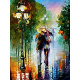 Rainy Day Arcylic Painting By Numbers On Canvas Framed