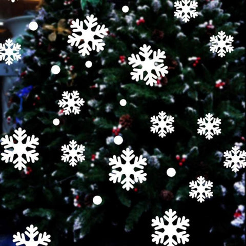 39pcs/set Christmas Snowflake Window Sticker Winter New Year 2020
