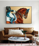 Modern Abstract Knight Horses