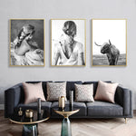Black And White Nordic Poster Vintage Wall Art Canvas