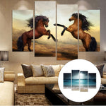 4 Pcs/set Unframed Canvas Horse Decorative HD Printed