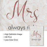 Romantic Mr Mrs Couple Wall Art
