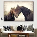 Style Horse Canvas Painting Animals
