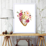 Heart Anatomy Art Canvas Doctor Office Wall Decor