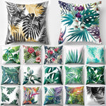 Tropical Decoration Print Cactus Monstera Cushion Cover Polyester size: 43*43 cm