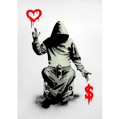 Boy Love Money Banksy Street Graffiti Printable
