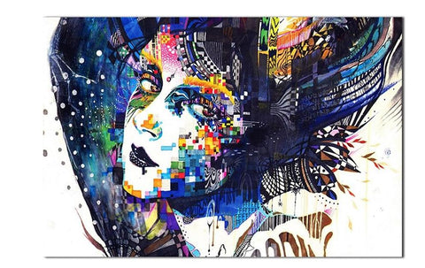 Home decoration Colorful Women Faces Paintings Mosaic Surreal