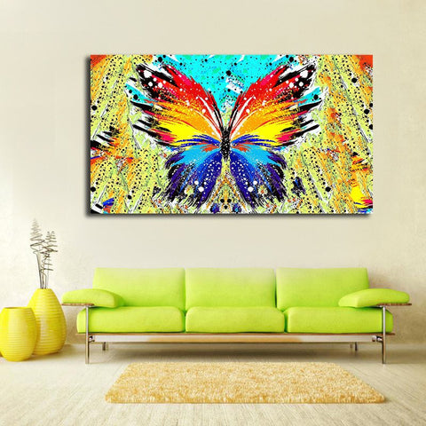 Home Decorative Abstract Butterfly Canvas Painting