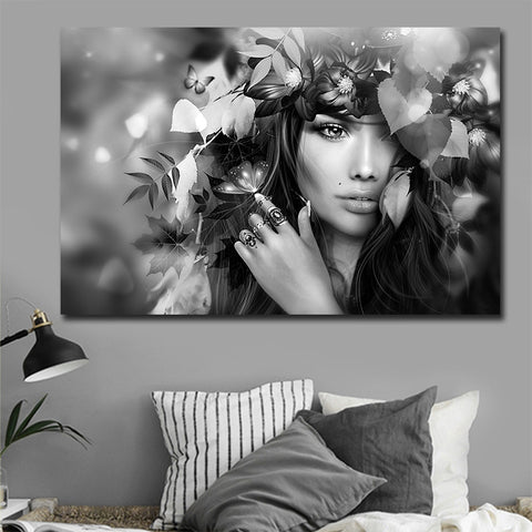 Modern Photo Pictures Beautiful Flower Girl Custom