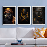 Figure Picture Modern Black-Skinned Women No Frame