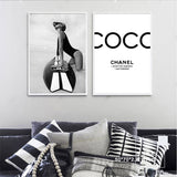 Fashion Black and White Poster Surf Canvas Painting Vogue Posters