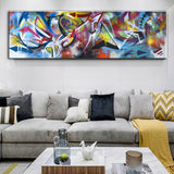 Abstract Wall Graffiti Art Modern Pop