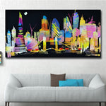Colorful City Posters  Wall Art