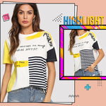 T-Shirt 2019 Short Sleeve Round Neck Tees  Glamorous Women Summer
