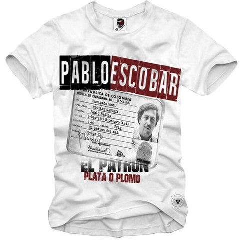 New T-SHIRT PABLO ESCOBAR MEDELLIN SCARFACE