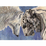Animals Wolf  Framed DIY Painting By Numbers Acrylic Painting 40x50cm