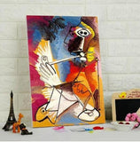 Pablo Picasso The smoker Le fumeur - Paint by Numbers Kits for Adults size : 40X50 cm