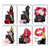 Paris Perfume Lipstick Flower Vogue Girl Nordic