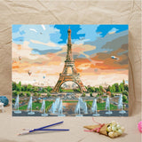 Theme Painting By Numbers Landscape  Kits With Environmental Acrylic Pain