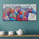 Fashion Wall Pictures Wonderful Color Horses Home Decor On Canvas