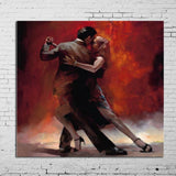 100% Handpainted Pictures Lover Tango Dance Modern Abstrac