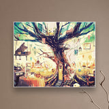 DIY Paint By Number Canvas Abstract Tree Painting 40x50cm Set