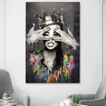 Portrait Picture Canvas Painting Figure Wall Art Graffiti