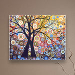 DIY Oil Painting Pictures By Numbers On Canvas Tree
