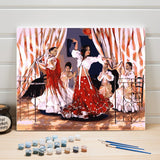 Pictures Painting By Numbers Dancer Figure DIY