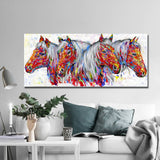 Four Horses Wall Art No Frame